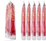 Meiwo 20pcs ropa transparente de plástico a prueba de polvo bolsa de almacenamiento de la cubierta para vestidos, trajes, abrigos, camisas, faldas, suéter, chaquetas, pantalones, uniformes , (60 x 120cm)