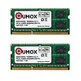 QUMOX 16 GB (2X 8 GB) 204 pin DDR3L-1600 SO-DIMM (1600Mhz, PC3L-12800S, CL11, 1.35V, Low Voltage)