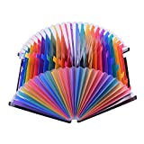 Docooler File Folder Organizer Expanding File Folder Rainbow Color Accordion A4 Size with File Guides and Paper Tags for Business/Study/Home