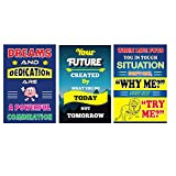 #10: Vprint Combo Pack Of 3 Motivational Posters Wall Poster Quotes & Motivation ,(18X12)