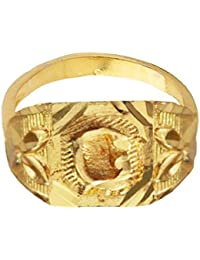 """Mens Jewellery Fashion Gold Plated """"O"""" Alphabate Design Ring"""
