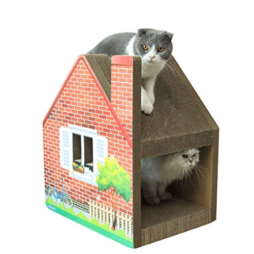CXQ Kreative einschichtige Schornstein Katze Haus Klettergerüst Katze Kratzbrett Katzenstreu Sofa Katze Klettergerüst Katzenspielzeug Heimtierbedarf - Basis-schornstein