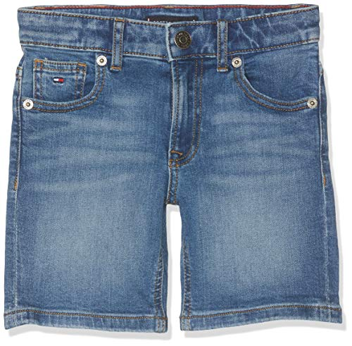 Tommy Hilfiger Jungen Randy Relaxed NYMST Shorts Blau (New York Mid Stretch 911) 140 (Herstellergröße: 10) -