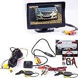 Drahtlose Kabellose Funk Mini Stoßstange Rückfahrkamera mit Hilfslinien und FARB Monitor für PKW Auto, Kleine Bus - Rear View Camera