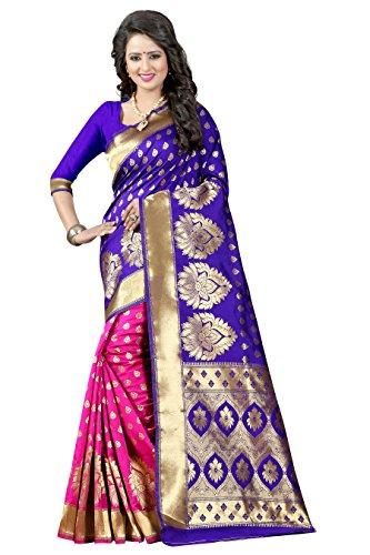 Jhtex Fashion Women's Banarasi Silk Saree Party Wear Saree With Blouse &...