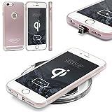 Urcover® Apple iPhone 6 Plus / 6s Plus Qi Fast Charging Backcase| Kunststoff in Rose Gold | Ladeempfänger Slim Wireless Charging Ladegerät dünn kabellos Laden