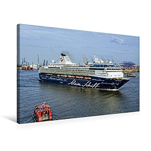 Premium Textil-Leinwand 75 cm x 50 cm quer, Mein Schiff 1 | Wandbild, Bild auf Keilrahmen,...