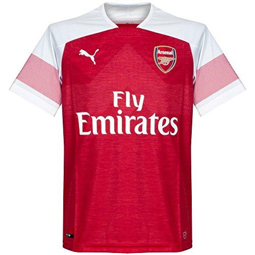 3d4955e9e28457 Puma Arsenal FC Home Replica with EPL Sponsor Logo Jersey