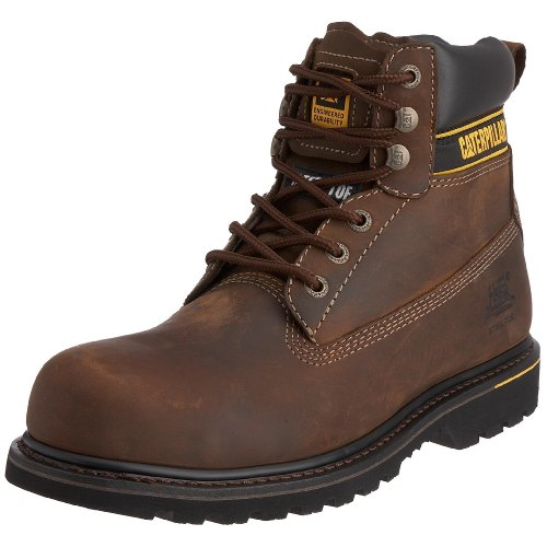 Cat Footwear Holton sb, Stivali antinfortunistici uomo, Marrone (Dark Brown), 41