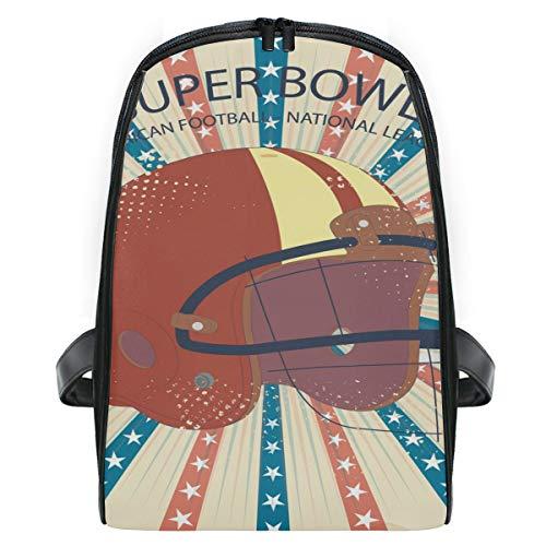 Rucksack Super Bowl Helm Kleiner Rucksack Daypack Taschen für Mädchen Jungen -
