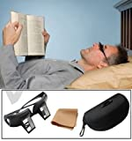 Periskop Brille Einfach hinlegen auf dem Bett Lesebuch Buch Halter Ständer mit Etui und Tuch LR/03
