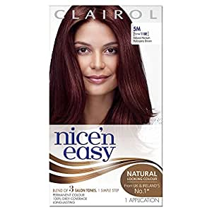 Clairol Nice'n Easy Permanent Hair Dye - Natural Medium Mahogany Brown 5M