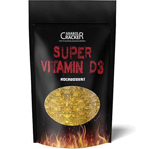 600 Kapseln - Super Vitamin D3, 5000 I.E. - 1000 I.E. pro Tag / Hochdosiert, Premium Qualität, Immunsystem, Zellfunktionen (Vitamin Pillen E 10000)