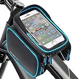 HEAWAA Unisex Youth Sport003 Fahrradtasche Rahmentasche Fahrrad Mountainbike Zubehör Oberrohrtasche und Handytasche Wasserdicht Sensitive Touch-Screen für Alle Fahrradtypen, Blau, 18,8 x 12 x 14,3 cm