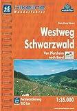 Hikeline Fernwanderweg Westweg Schwarzwald - Von Pforzheim nach Basel - Wanderführer und Karte 1:35.000, 285 km, wasserfest, GPS-Tracks zum Download - Hans-Georg Sievers