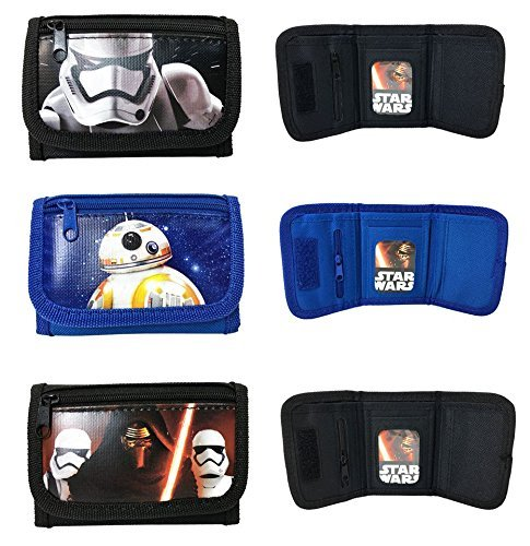 New Disney Star Wars The Force Awakening BB8 STORM TROPPER Set of 3 Tri Fold Wallet by Disney