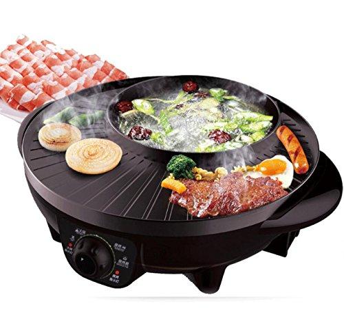 ZXMXY Hot Pot Electric BBQ Grill Doble Pot Barbacoa Máquina Estilo Chino...