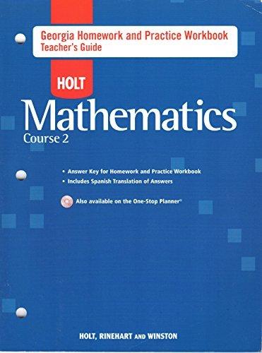 Winston Schlüssel (Holt Mathematics Georgia: Homework And Practice Workbook Teachers Guide Course 2)