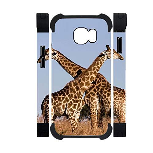 Babu Building Kid Pc- Und Silikonschalen Schlank Verwenden F¨¹r S6 Samsung Drucken Giraffe