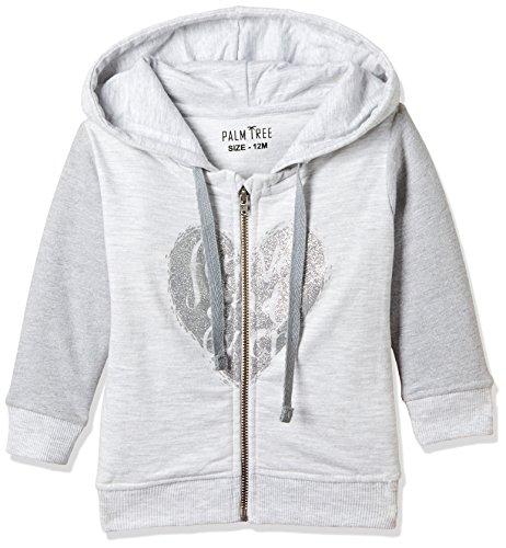 Palm Tree Baby Girls' Jacket (132092633329 C204_White Melange(C204)_18-24 months)