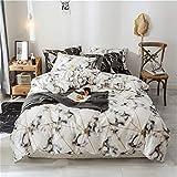 SHJIA Bettwäsche Set Baumwolle Bettbezug Kissenbezüge Schlafzimmer Textil König Queen Size Bett Set A 180x210cm