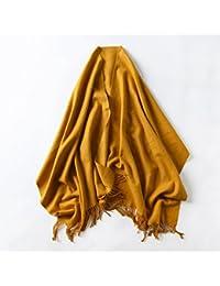 4d31ea173fb9 CRL Foulard d automne et d hiver Femme Mme. Printemps et Automne et écharpe  Châle Couleur Rouge All-Match Chaud Couple d étudiants…