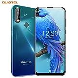 """OUKITEL C17 PRO Dual 4G Volte Smartphone,6.35"""" Schermo Forato,Tre Telecamere Posteriori,Android 9.0 Octa-Core 2.0GHz Telefono Cellulare,4GB RAM+64GB ROM,Batteria 3900 mAh (4GB+64GB-Aurora Verde)"""