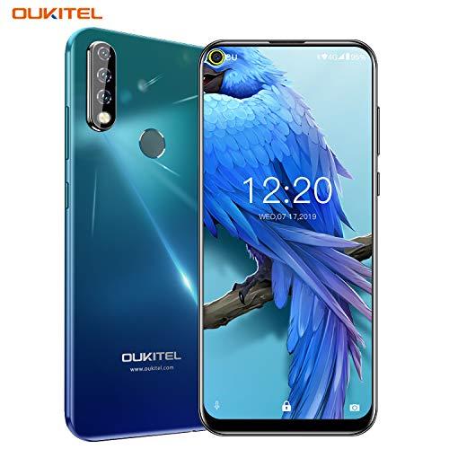 Oukitel C17 Pro (2019) Smartphone ohne Vertrag Günstig Triple Kamera (AI Modus) 6,35 Zoll Full Screen Android 9.0 Handy 4GB RAM+64GB ROM,3900 mAh Akku Dual SIM Face ID Fingerabdruck - Aurora Grün