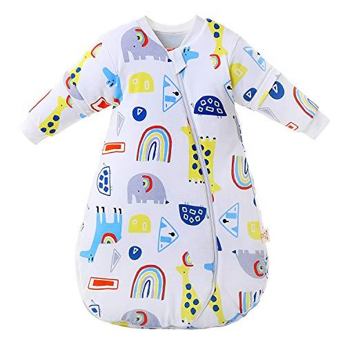 Baby Winter schlafsack Kinder schlafsack 2.5-3.5 Tog Schlafsaecke aus Bio Baumwolle Verschiedene Groessen von Geburt bis 3 Jahre alt(M/Koerpergroesse 65-80cm)