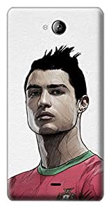 Mott2 Back Case for Micromax Canvas Play Q355 | Micromax Canvas Play Q355Back Cover | Micromax Canvas Play Q355 Back Case - Printed Designer Hard Plastic Case - Cristiano Ronaldo-CR7 theme