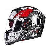 LL Motorrad Full Helm Doppel-Visor Full Face Motorbike Outdoor Männer und Frauen,2,XXL