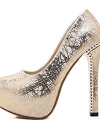 Ggx femme Chaussures PU été automne hiver talons talons de mariage robe décontracté  Chunky Talon d apos autres… ee1c0484085a