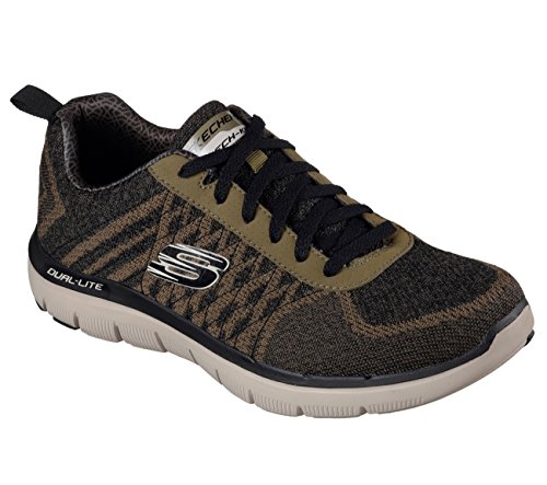 Skechers Flex Advantage 2.0-Golden Point, Baskets Basses Homme Verde