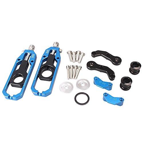 gzyf de chaîne de moto adulte réglable pour Kawasaki ZX10R 2011–2015en aluminium Bleu