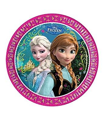 Disney reino del hielo Chicas Paper plate - fucsia