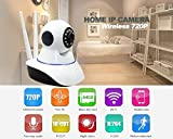 #4: Royal Lite Wireless HD IP Wifi CCTV Indoor Security Camera Stream Live Video in Mobile or Laptop - White