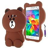 Galaxy Grand Prime G530 Funda Case, Moonmini® 3D encantador Bear Funda Carcasa de Silicona para Samsung Galaxy Grand Prime G530 - Samsung Galaxy Gran Primer G530