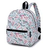 Lily & Drew Mini Segeltuch Leichtgewicht Rucksack Daypack (Blumen Blau)