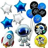 Joeyer 14 Pack Astronauta Fantascienza Palloncino Set, Cartone Animato in Alluminio Palloncino Decorazioni Forniture per Feste di Compleanno