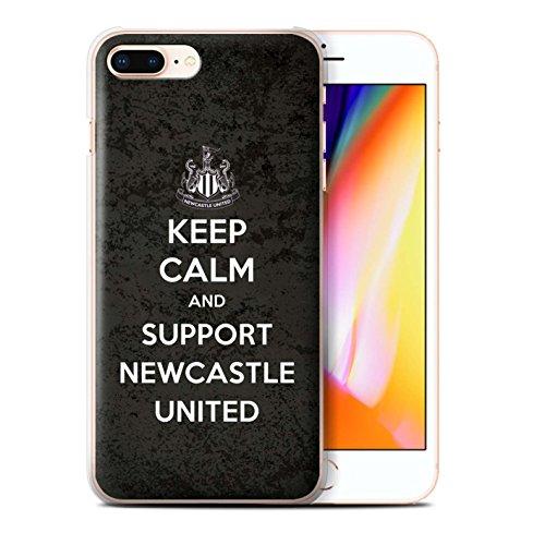 Officiel Newcastle United FC Coque / Etui pour Apple iPhone 8 Plus / Soutien Design / NUFC Keep Calm Collection Soutien