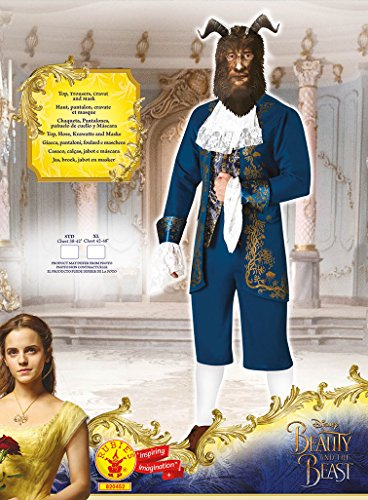 Imagen de rubie 's–disfraz oficial de bestia de la película de disney «la bella y la bestia», para hombre alternativa