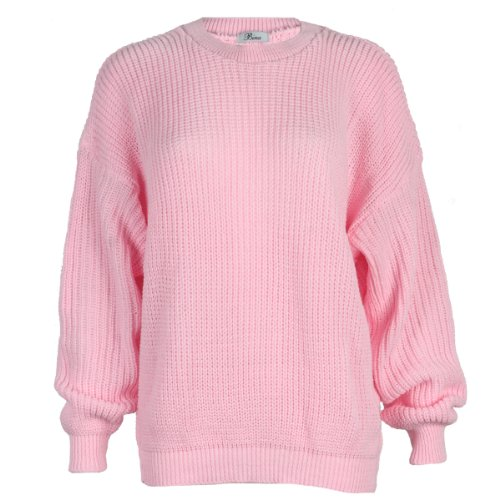 9L Womens Oversized Ladies Knitted Baggy Chunky Jumper Sweater Top Test
