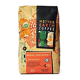 Whole Bean Organic Coffee Beans – Mother Earth Coffee – Medium Roast – 907 g (32 oz.)