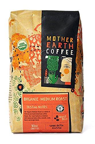 Whole Bean Organic Coffee Beans – Mother Earth Coffee – Medium Roast – 907 g (32 oz.)