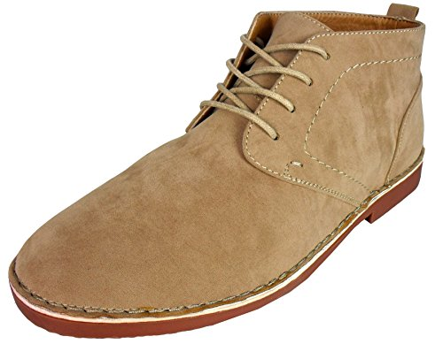 Mens Faux Suede Desert Boot Chukka Mod Ankle Boots Classic Design Size...
