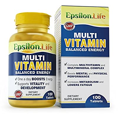 Epsilon Multivitamin and Mineral Complex - 100 Tablets - Balanced Formula To Boost Energy And Vitality by Epsilon