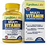 Epsilon Multivitamin and Mineral Complex - 100 Tablets - Balanced Formula To Boost Energy And Vitality
