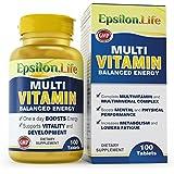 Epsilon - Complexe multi-vitamines et minéraux - 100 gélules - Formule équilibrée pour stimuler l'énergie et la...