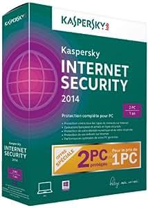 Kaspersky internet security 2014 (2 postes, 1 an)