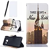 Huawei P9 Lite Coque, Lotuslnn Huawei P9 Lite Cuir Coque Wallet Case Etui Housse (Coque+ Stylus Stift+Screen Protector)